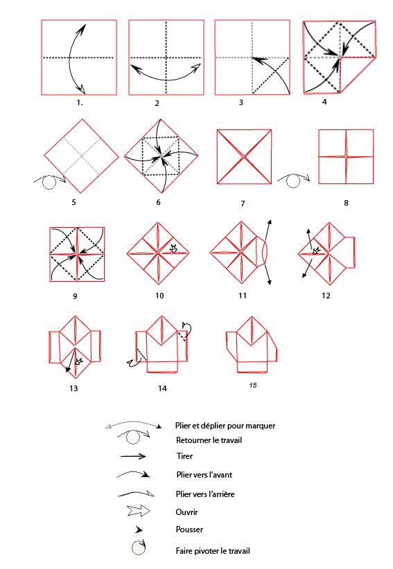 mod le origami de p re no l en papier. Black Bedroom Furniture Sets. Home Design Ideas