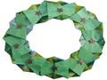 Modèle Origami Couronne de Fêtes en papier