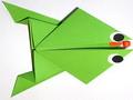 Modèle Origami Grenouille en papier