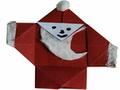 Modèle Origami Père Noël en papier