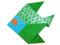 Modèle Origami Poisson en papier