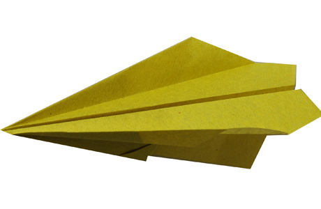 Modèle Pliage Origami d'Avion en papier