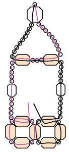 Schéma bracelet zircon en perles 1