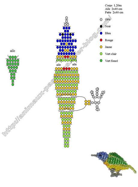 Плетение из бисера.попугай